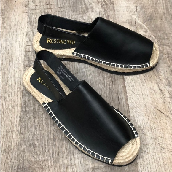 Restricted Shoes - Restricted Espadrille Sandals
